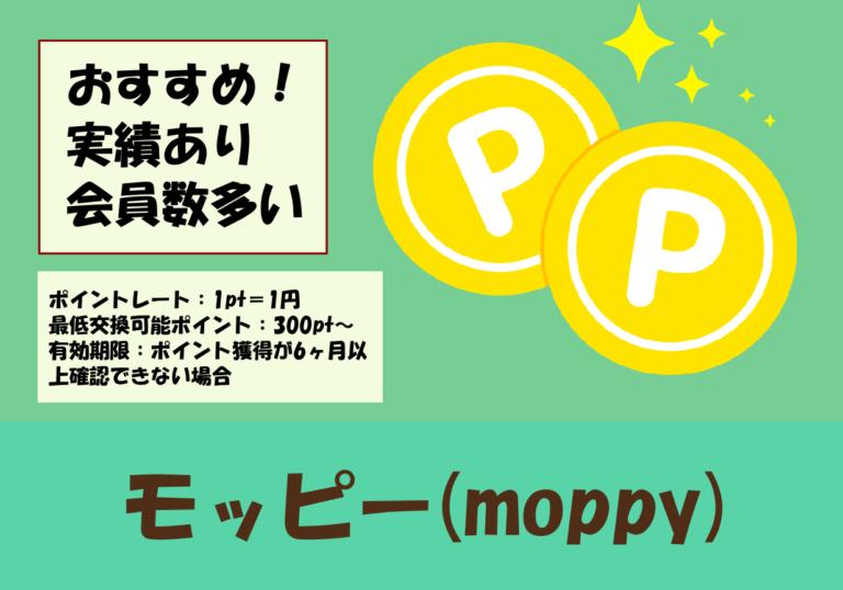 モッピー(moppy)のポイントレートや有効期限などの基本情報