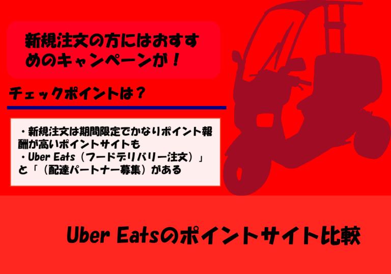 【2020年4月更新】Uber Eatsのポイントサイト比較|フードデリバリー注文&配達パートナー募集を紹介
