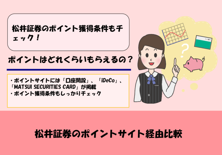 【2020年5月更新】松井証券のポイントサイト経由比較|ポイント獲得条件と注意点