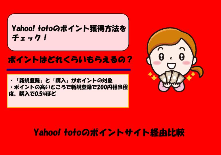 【2020年5月更新】Yahoo! totoのポイントサイト経由比較|ポイント獲得条件と注意点